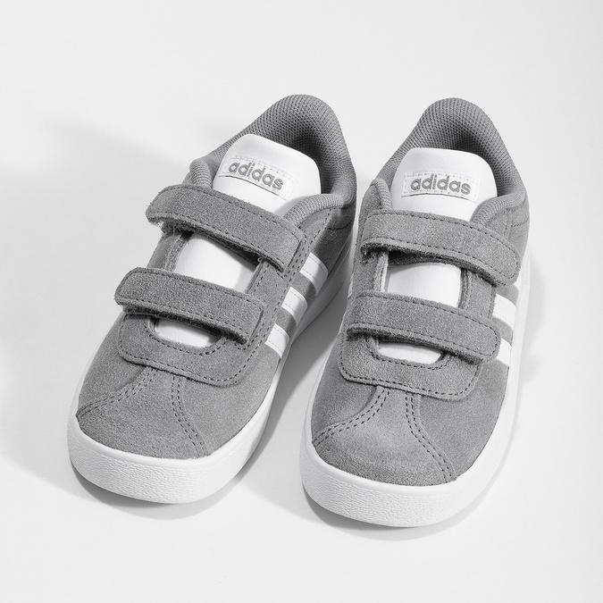 Šedé dětské tenisky z broušené kůže adidas, šedá, 103-2203 - 16