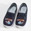 Dětská domácí obuv s motivem rakety mini-b, modrá, 379-9219 - 16