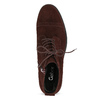 Vínová kožená kotníčková obuv gabor, červená, 623-5029 - 17