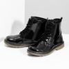 Dívčí kotníčková obuv černá lesklá mini-b, černá, 391-6259 - 16