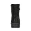 Dámské černé kozačky se zipy bata, černá, 691-6637 - 15