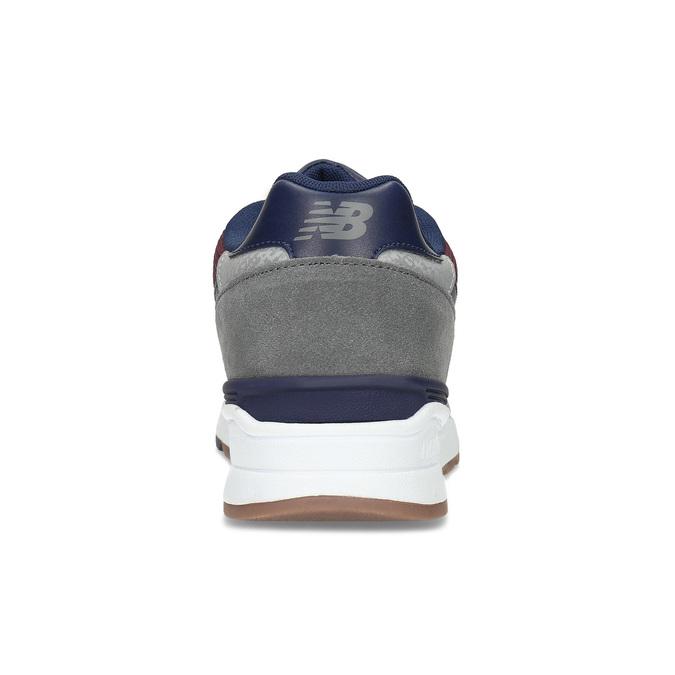 Pánské tenisky z broušené kůže new-balance, červená, 803-5171 - 15