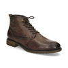 Kotníčková obuv s vázáním pánská bugatti, hnědá, 826-4056 - 13