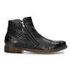 Pánská kotníčková obuv se zipem černá bugatti, černá, 816-6026 - 19