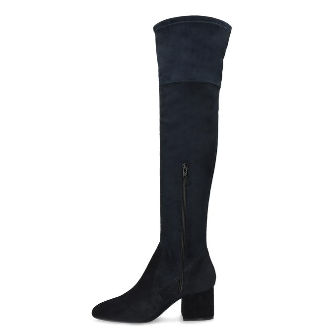 Modré dámské kozačky nad kolena bata, modrá, 793-9614 - 17