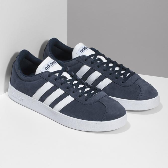 Pánské tenisky z broušené kůže adidas, modrá, 803-9379 - 26
