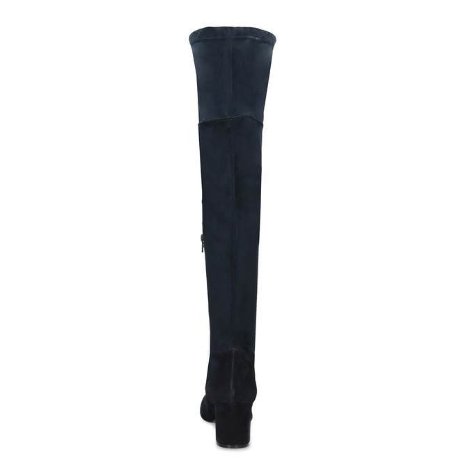 Modré dámské kozačky nad kolena bata, modrá, 793-9614 - 15
