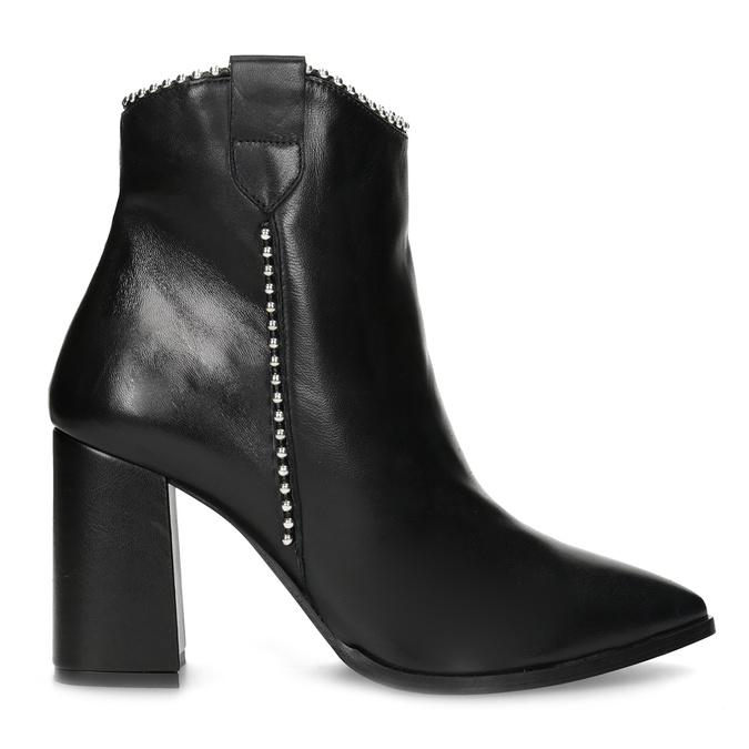 Dámská kožená obuv do špičky bata, černá, 796-6658 - 19
