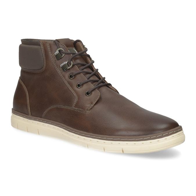 Pánská kotníčková obuv tmavě hnědá bata-red-label, hnědá, 821-4602 - 13