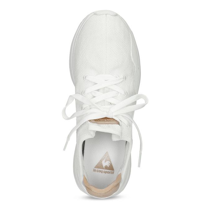 Bílé dámské tenisky se zlatými detaily le-coq-sportif, bílá, 509-1156 - 17
