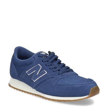 Modré dámské tenisky z broušené kůže new-balance, modrá, 503-9172 - 13