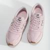 Růžové dámské tenisky z broušené kůže new-balance, růžová, 503-5172 - 16