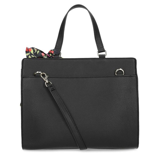 Černá kabelka s mašlí bata-red-label, černá, 961-6896 - 16