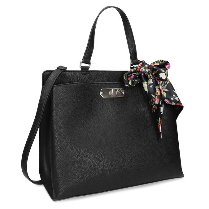 Černá kabelka s mašlí bata-red-label, černá, 961-6896 - 13