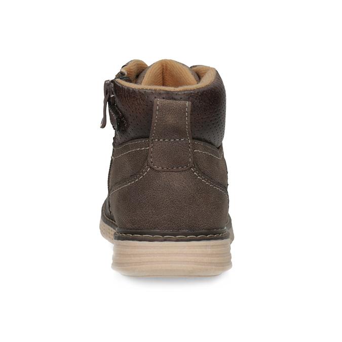 Hnědá dětská kotníčková obuv na zip mini-b, hnědá, 311-4614 - 15