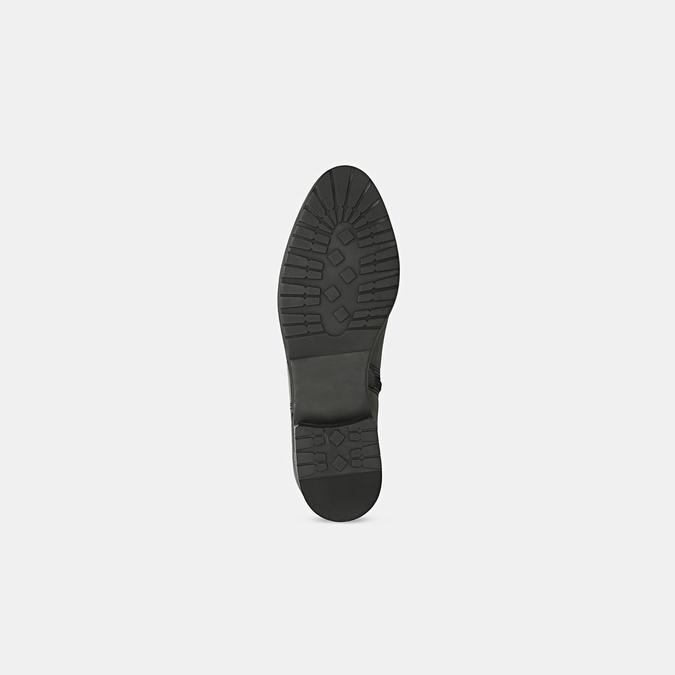 Černé kožené kozačky bata, černá, 594-6675 - 17