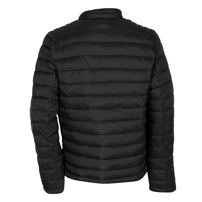 Pánská černá bunda s prošitím bata, černá, 979-6369 - 26