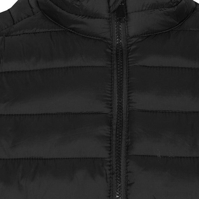Pánská černá bunda s prošitím bata, černá, 979-6369 - 16