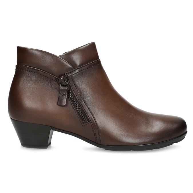 Dámská kožená kotníčková obuv hnědá gabor, hnědá, 616-3001 - 19