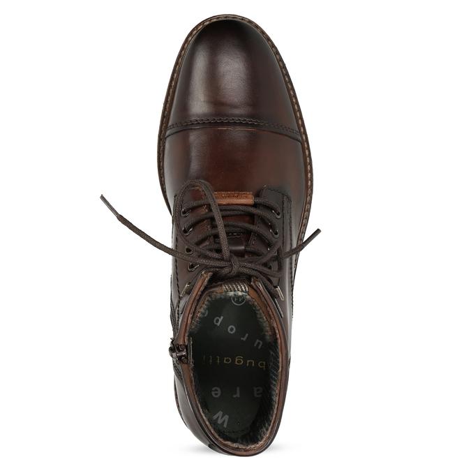 Zimní pánská kotníčková obuv kožená bugatti, hnědá, 896-3023 - 17