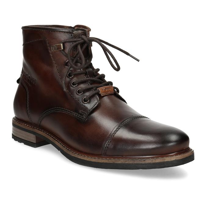 Zimní pánská kotníčková obuv kožená bugatti, hnědá, 896-3023 - 13