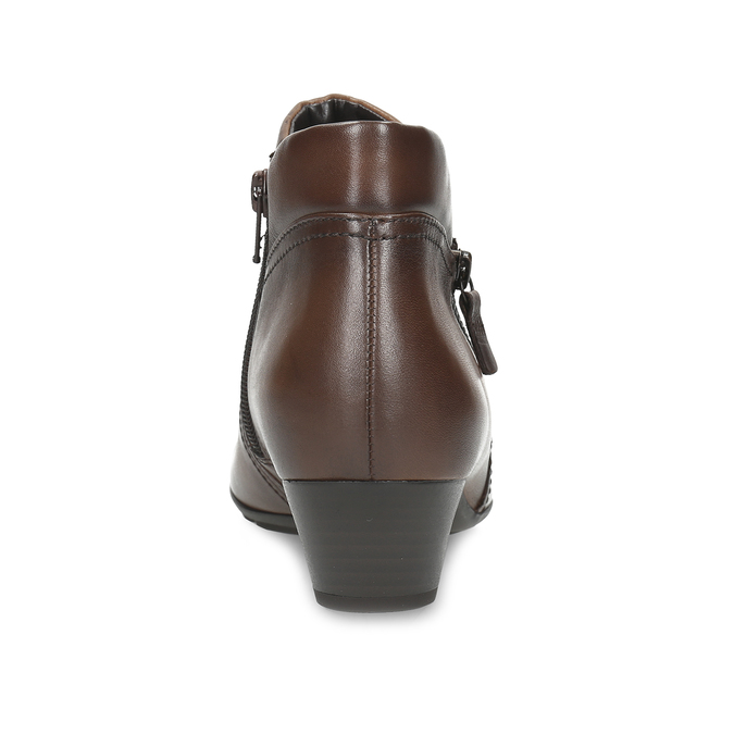 Dámská kožená kotníčková obuv hnědá gabor, hnědá, 616-3001 - 15