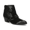 Kožená kotníčková obuv ve western stylu bata, černá, 696-6663 - 13