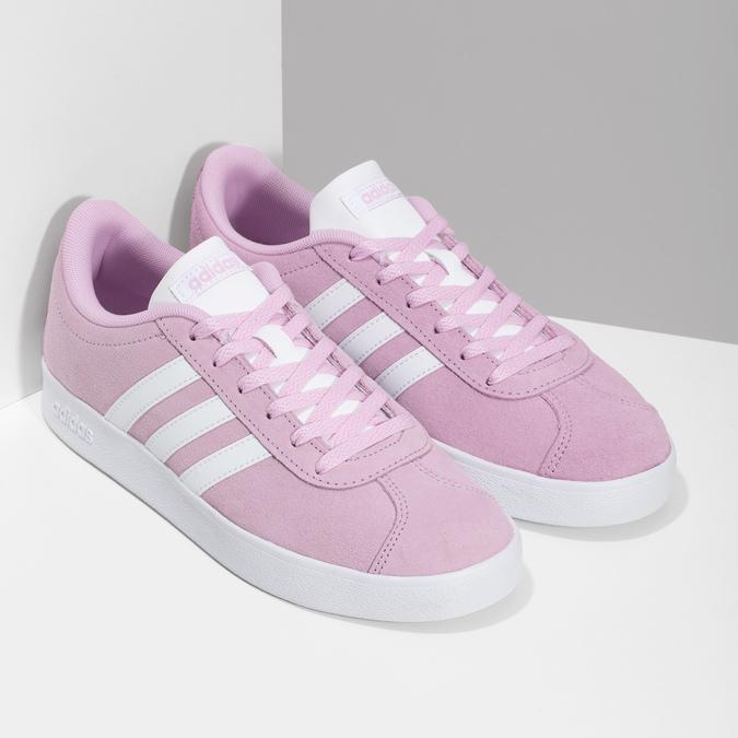 Dětské kožené tenisky růžové adidas, růžová, 403-5361 - 26