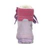 Dětská kožená kotníčková obuv s kožíškem mini-b, fialová, 296-9601 - 15