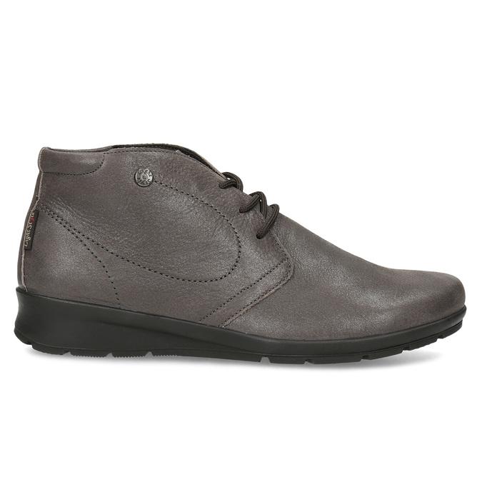 Dámská kožená kotníčková obuv comfit, hnědá, 596-4707 - 19