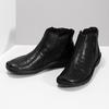 Dámská kotníčková zimní obuv kožená bata, černá, 594-6708 - 16