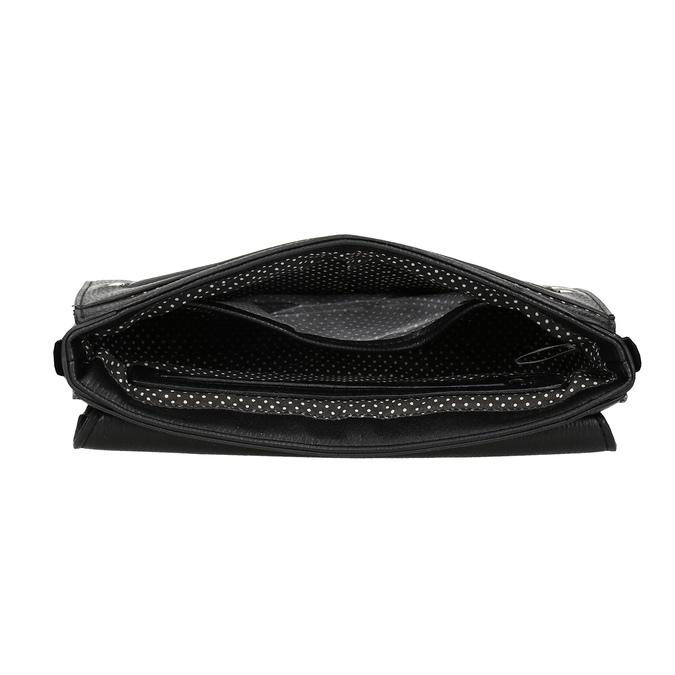 Černá dámská kabelka s květinami picard, černá, 961-6040 - 15