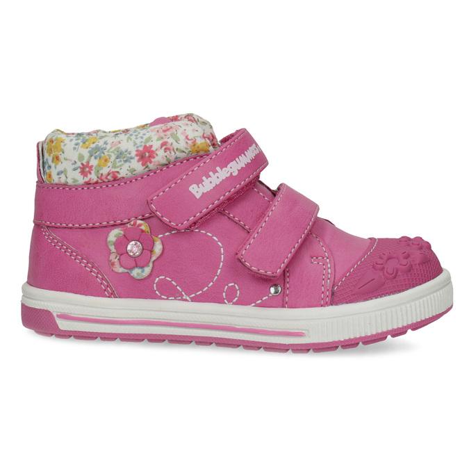 Růžové dětské kotníčkové tenisky s květinami bubblegummers, 121-5618 - 19