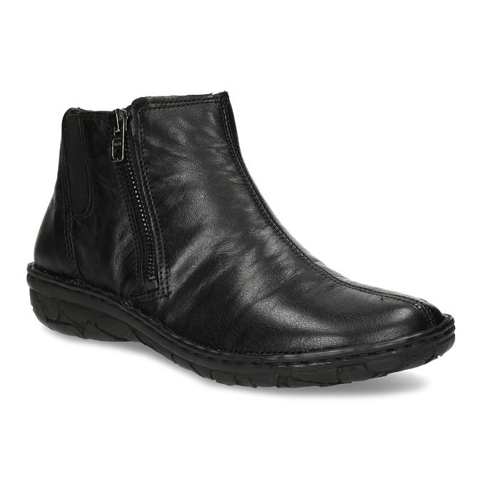 Dámská kotníčková zimní obuv kožená bata, černá, 594-6708 - 13