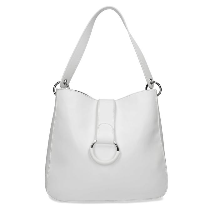 Bílá kabelka s kulatou sponou bata, bílá, 961-1931 - 26