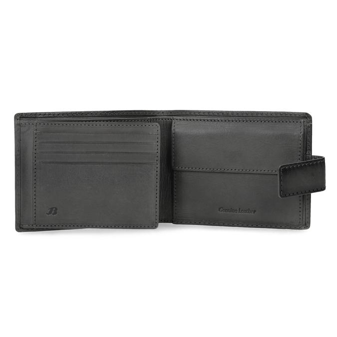 Kožená černá pánská peněženka bata, černá, 944-6219 - 15