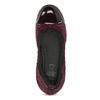 Dámské kožené baleríny vínové flexible, červená, 526-5663 - 17
