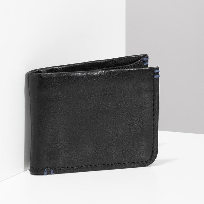 Kožená černá pánská peněženka bata, černá, 944-6214 - 17
