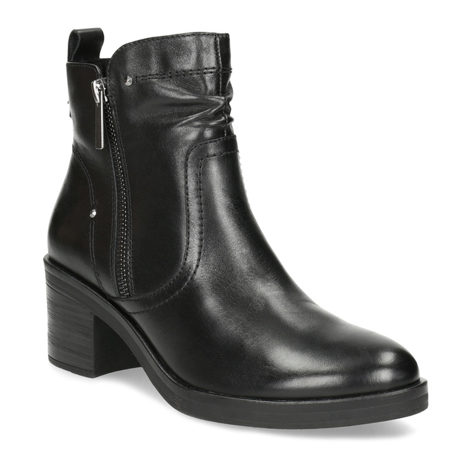 Dámská kotníčková zimní obuv na podpatku bata, černá, 694-6672 - 13