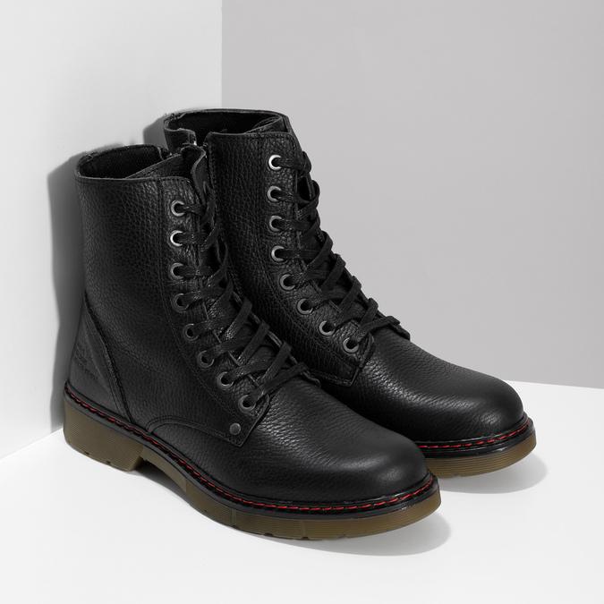Černá dámská kožená obuv v Chelsea stylu bata, černá, 596-6732 - 26