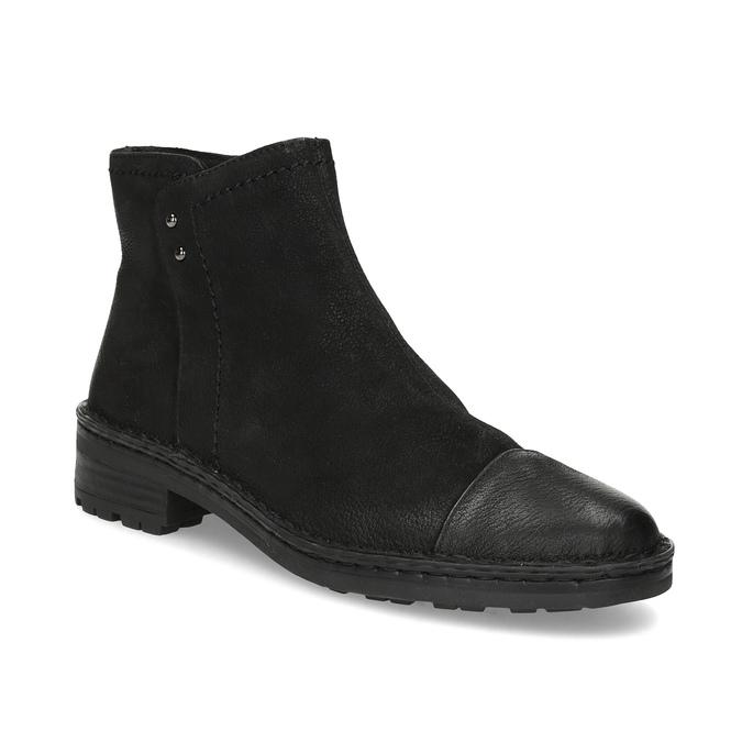 Dámská kožená kotníčková obuv bata, černá, 596-6708 - 13
