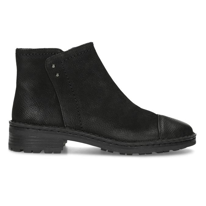 Dámská kožená kotníčková obuv bata, černá, 596-6708 - 19