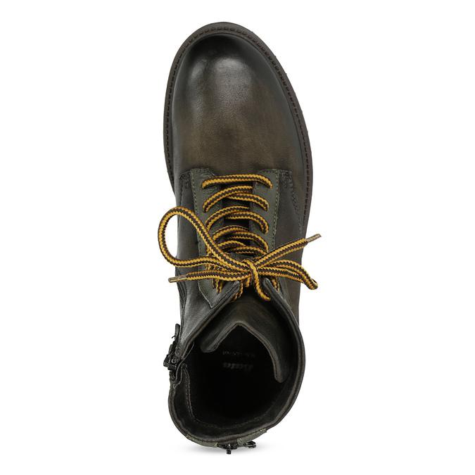 Zimní vysoká kožená kotníčková obuv bata, šedá, 896-2737 - 17