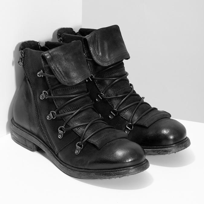 Kožená zimní pánská obuv bata, černá, 896-6744 - 26