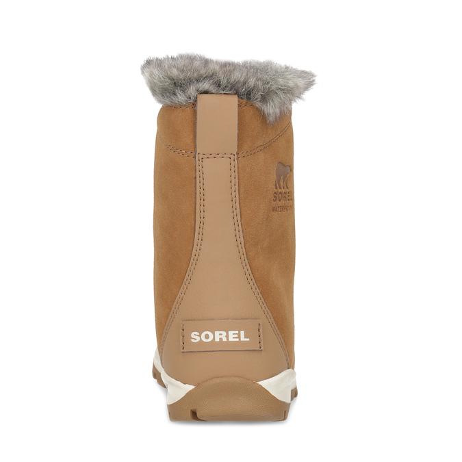 Kožená dětská zimní obuv s kožíškem sorel, hnědá, 393-3041 - 15