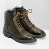 Zimní vysoká kožená kotníčková obuv bata, šedá, 896-2737 - 26