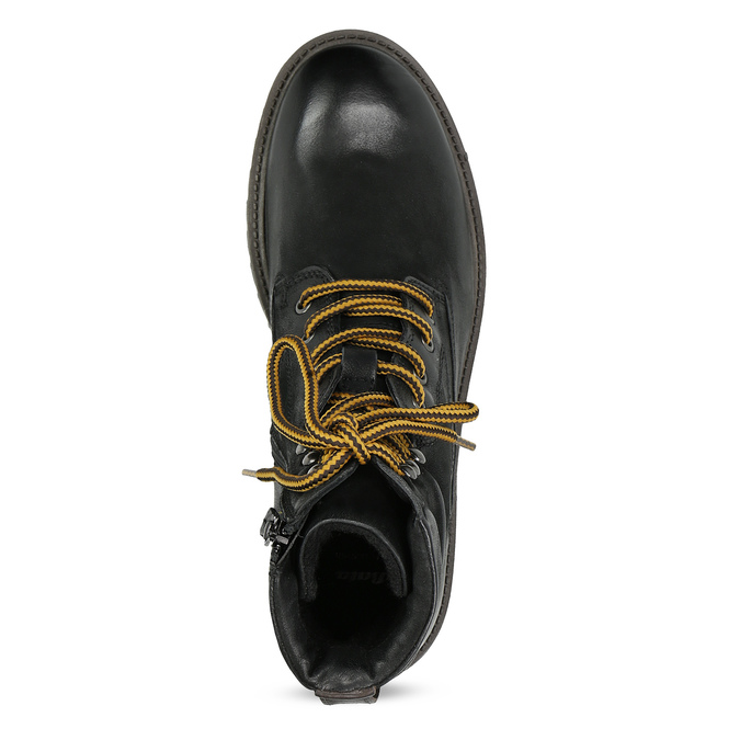 Zimní kožená pánská kotníčková obuv bata, černá, 896-6736 - 17