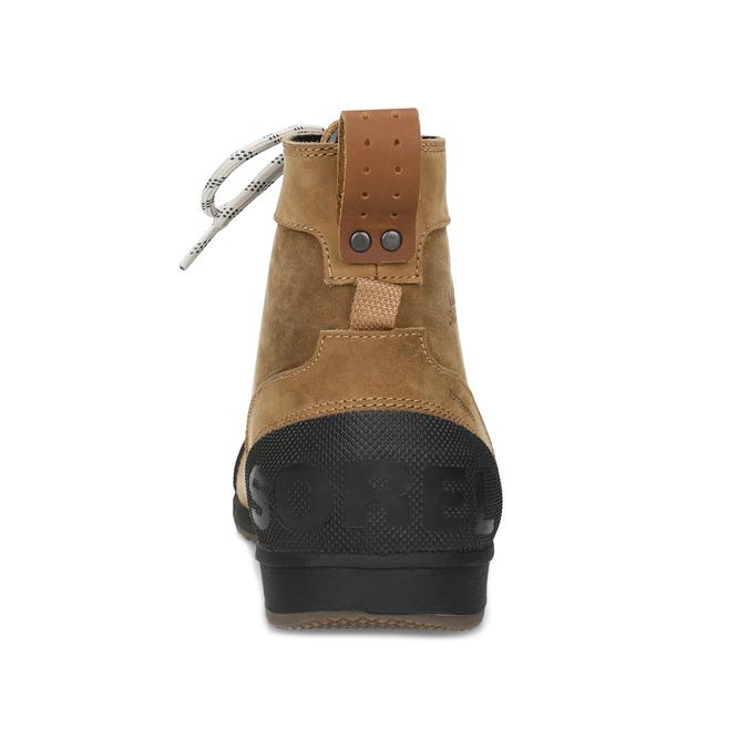 Pánská kožená kotníčková zimní obuv sorel, hnědá, 826-3025 - 15