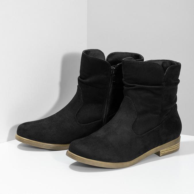 Dámské kotníčkové kozačky bata, černá, 599-6614 - 16
