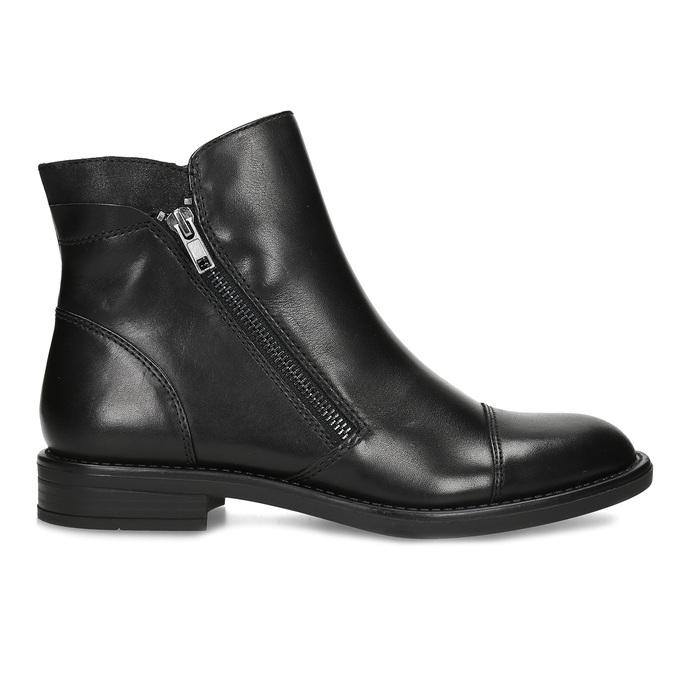 Kožená dámská kotníčková obuv bata, černá, 594-6711 - 19